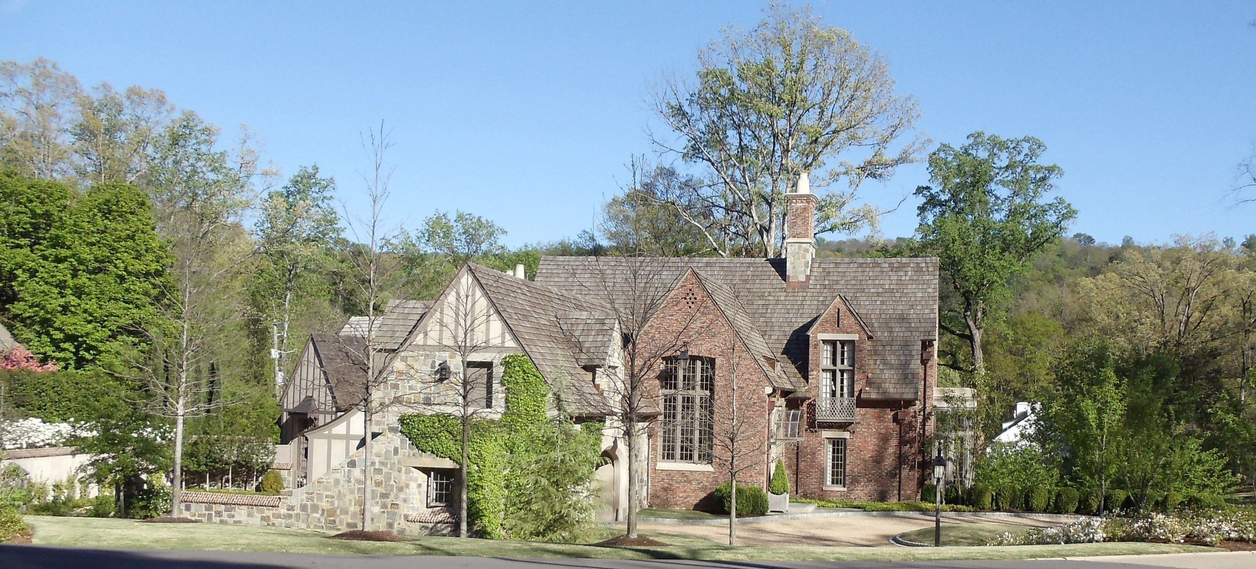 Beautiful Mountain Brook Alabama Tudor w/ angles image
