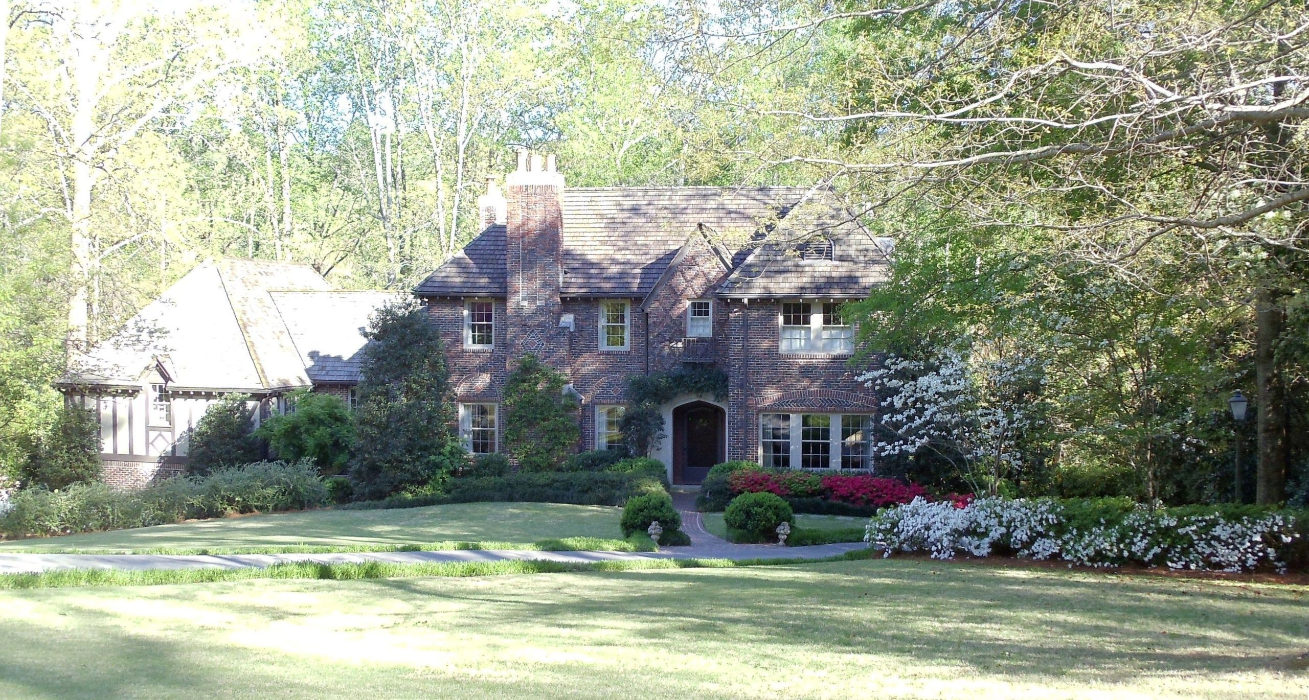 Brick Tudor w/ front chimney in Beautiful Mountain Brook Alabama image
