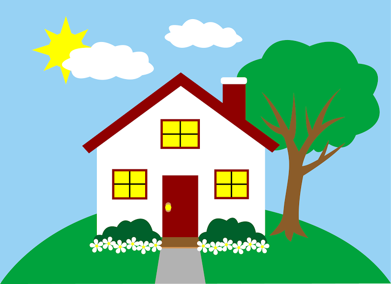 recognize the potential in a value priced home cartoon cottage image