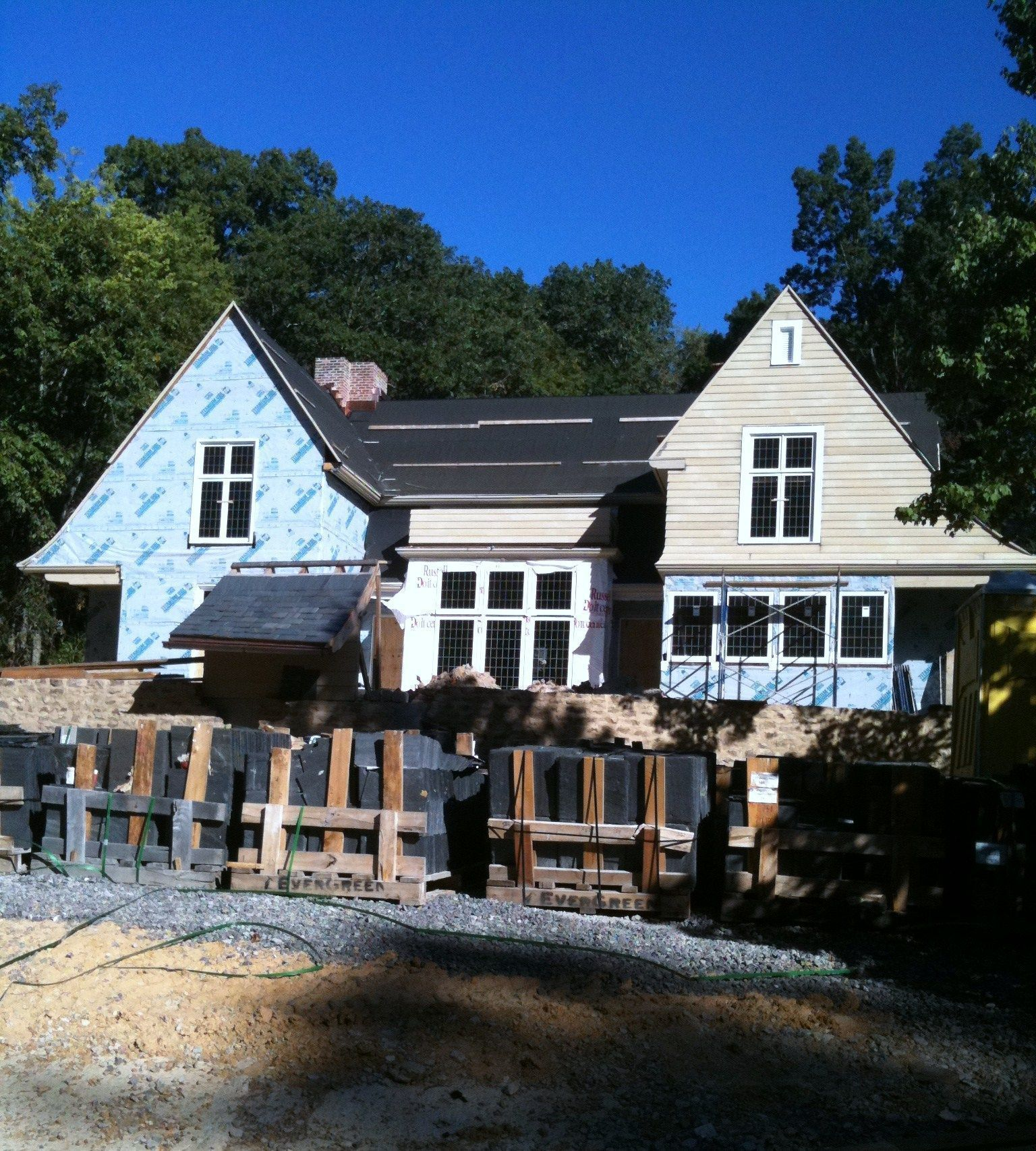 Mountain Brook home under construction